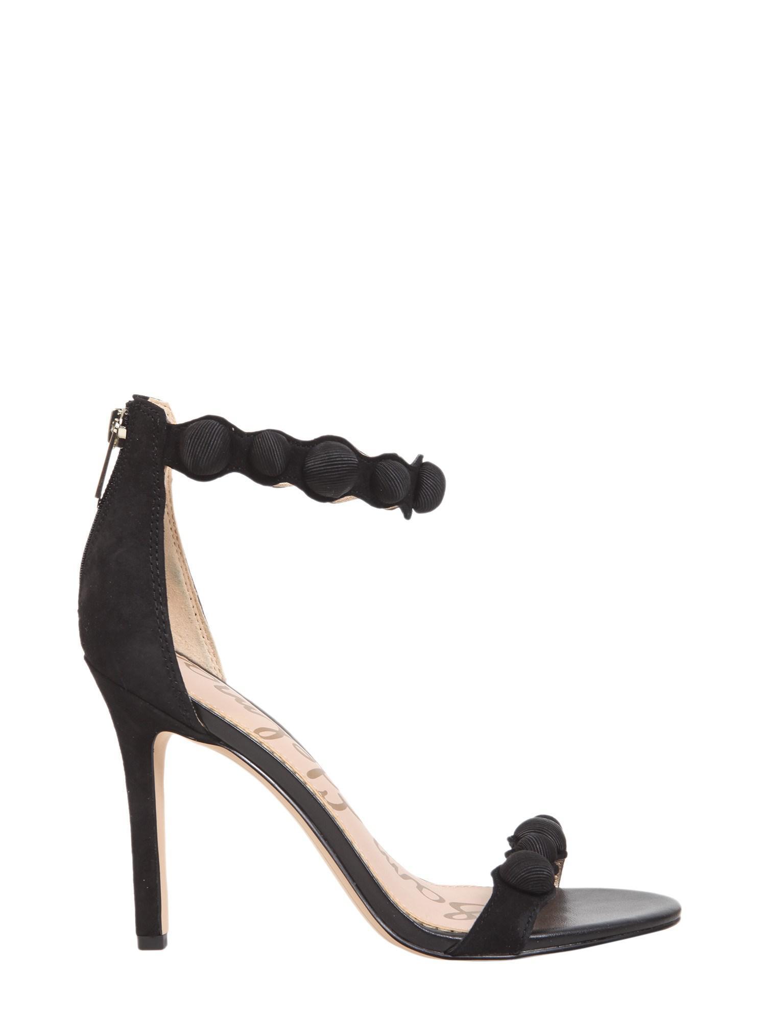 453d61c0c66071 Lyst - Sam Edelman Embellished Suede Sandals in Black - Save 28%