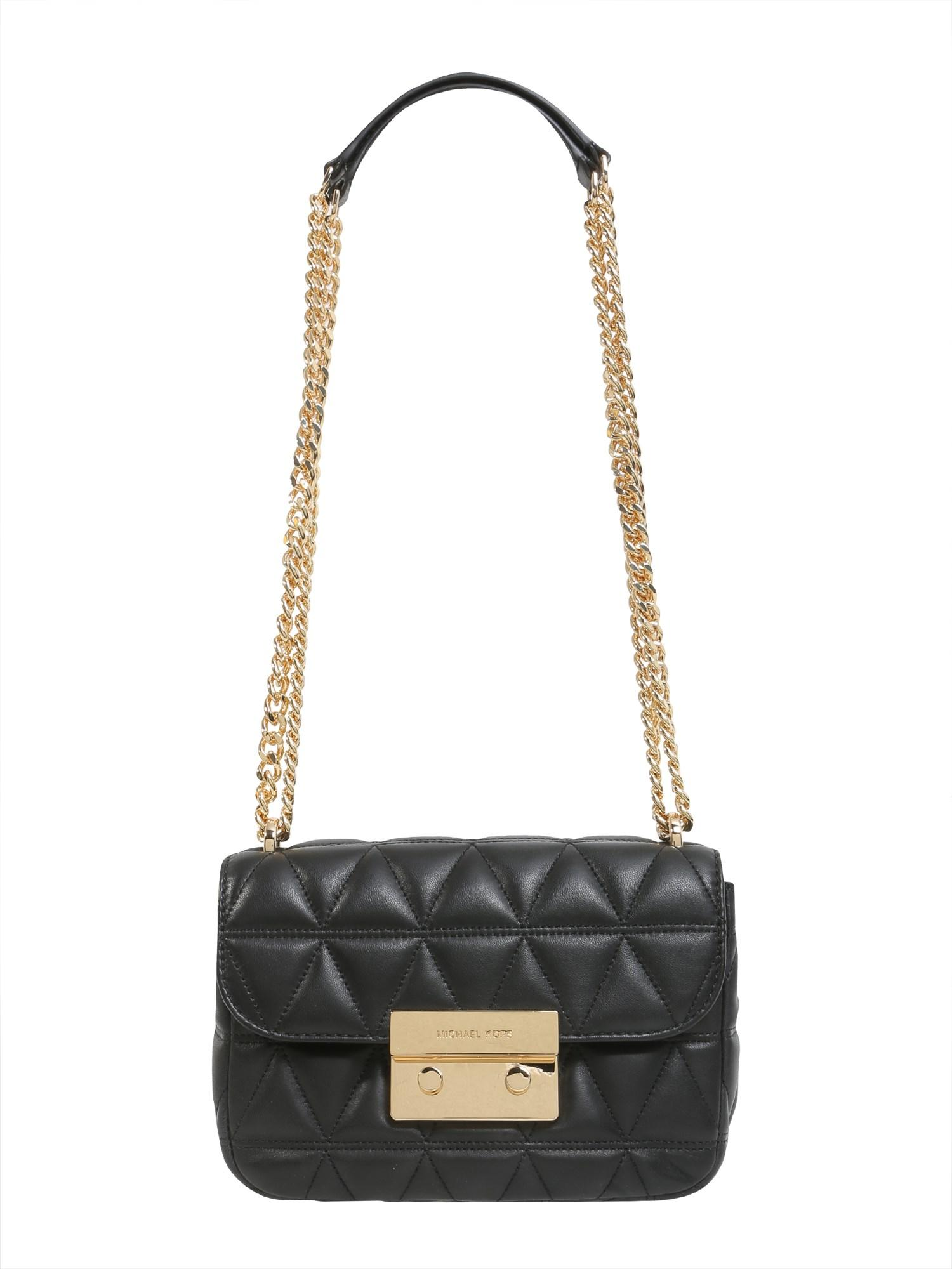 cbd115cd71c8 MICHAEL Michael Kors Sloan Small Messenger Bag In Quilted Leather in Black  - Lyst