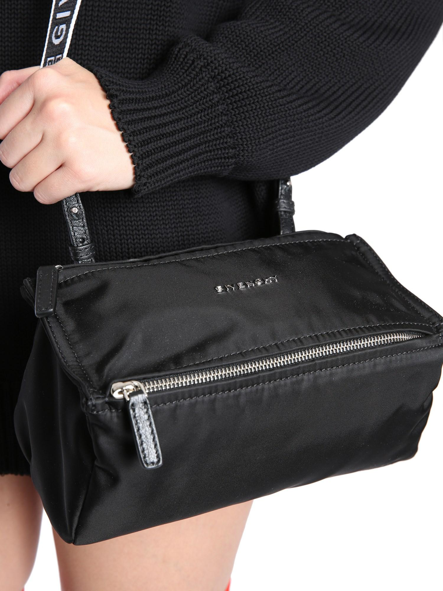 Lyst - Givenchy 4g Mini Pandora Bag In Nylon in Black bc1a74e51d639