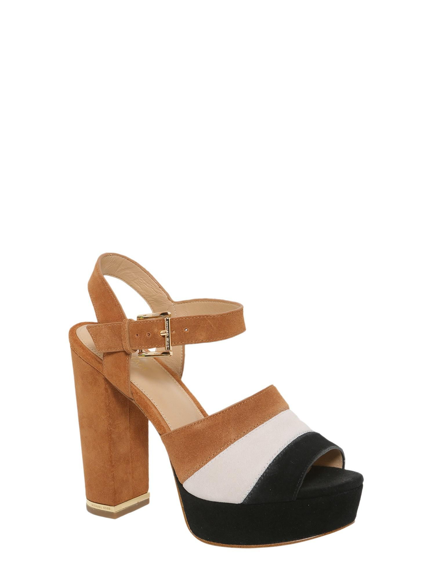 c68e10e907ef47 MICHAEL Michael Kors - Brown Platform Anise In Suede - Lyst. View fullscreen