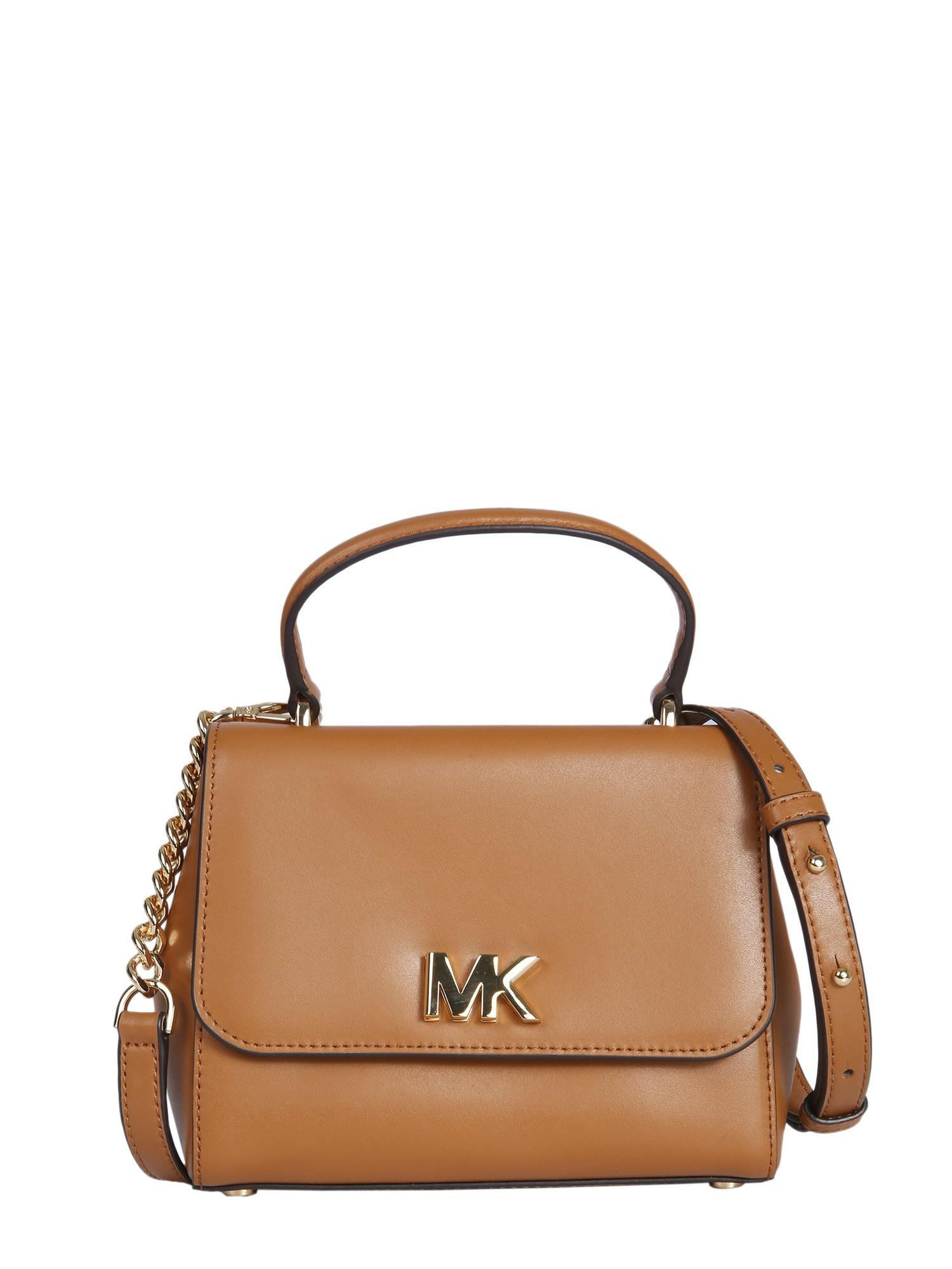 Lyst - MICHAEL Michael Kors Small Mott Leather Bag in Brown bed68600a3e1f