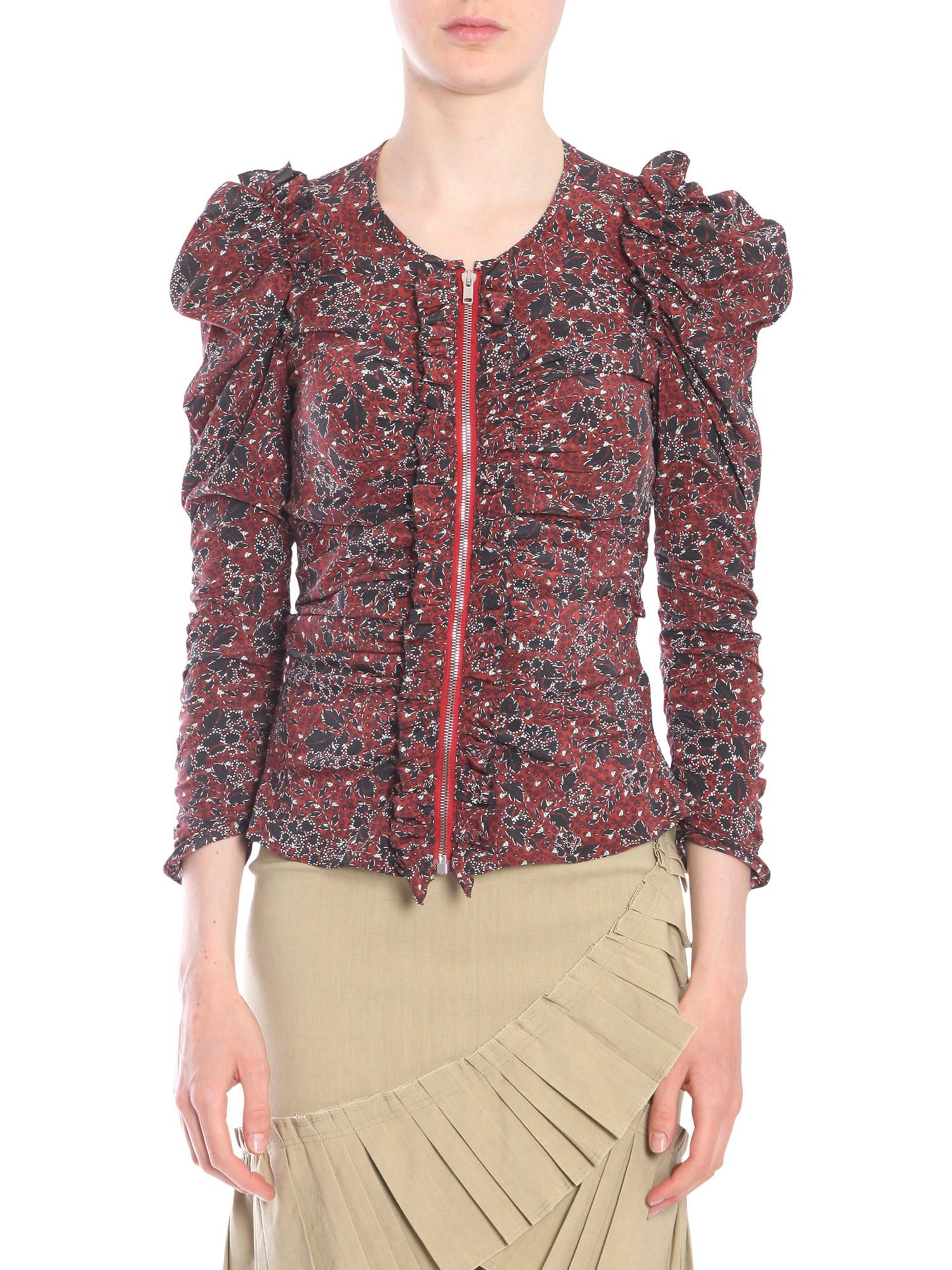 sneakers for cheap 7cd20 2f8cd isabel-marant-BORDEAUX-Printed-bali-Stretch-Silk-Shirt-With-Zip.jpeg