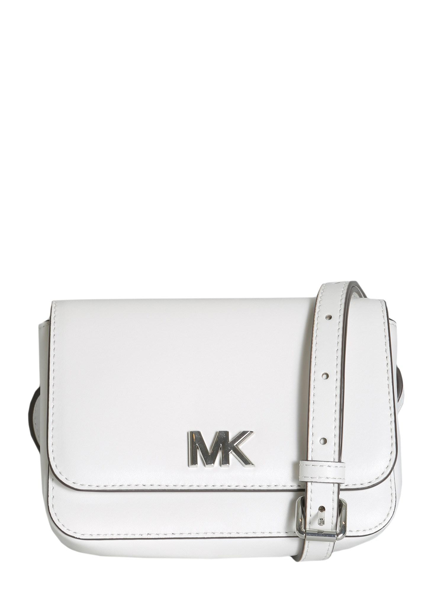 16eca4c4e4db Lyst - MICHAEL Michael Kors Mott Leather Belt Bag in White