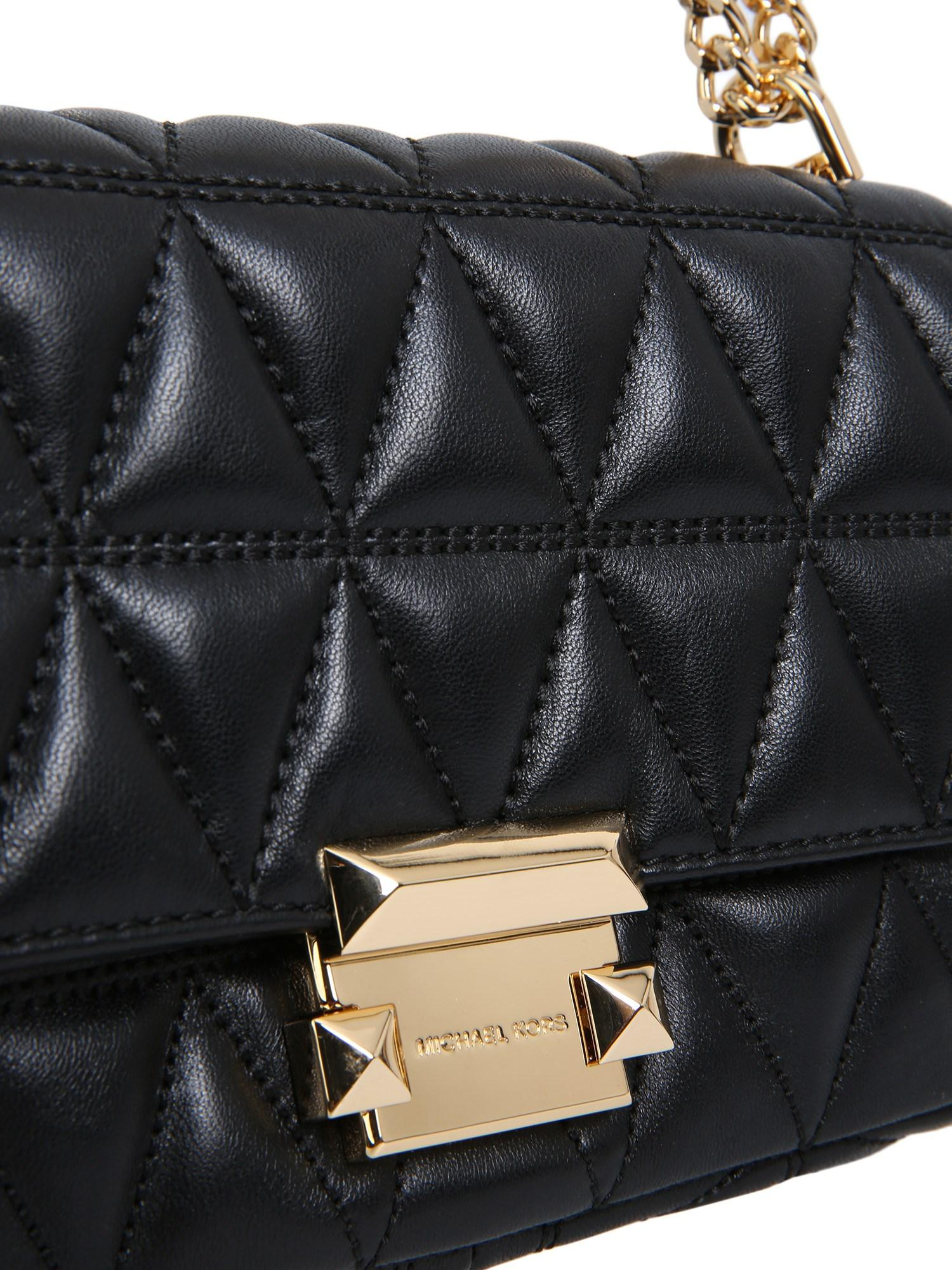 20ec71e7ac53 MICHAEL Michael Kors. Women s Black Sloan Small Messenger Bag In Quilted  Leather
