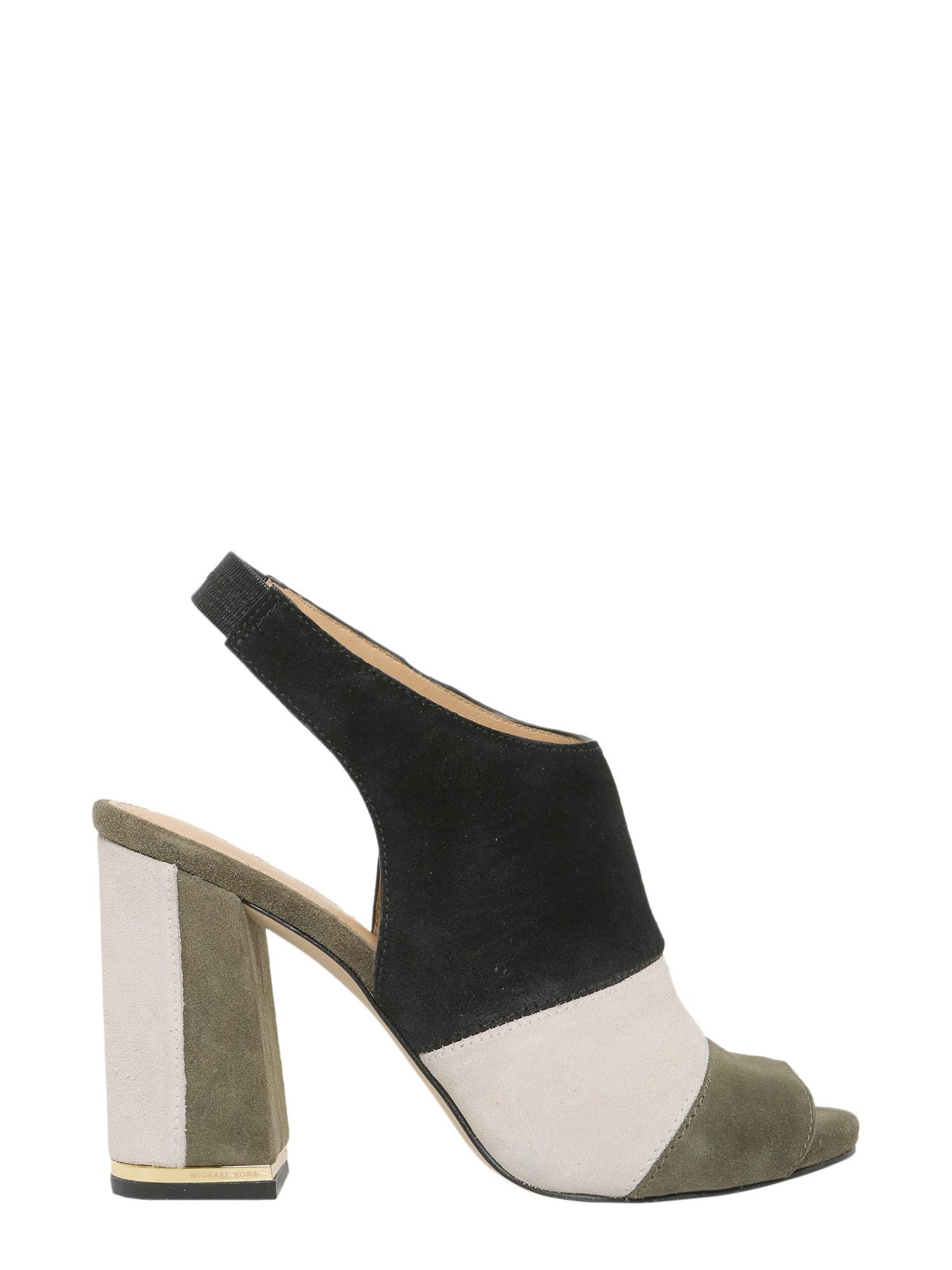 ba4a64f17bc Michael Michael Kors Open Toe Anise In Suede in Green - Lyst