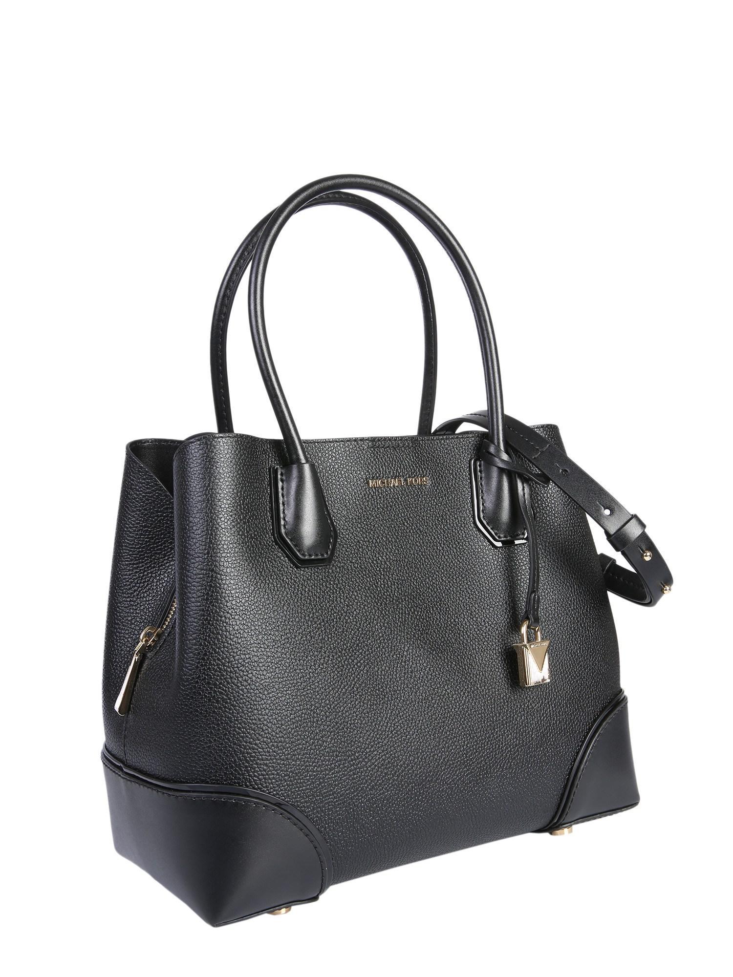 MICHAEL Michael Kors. Women s Black Medium Mercer Gallery Hammered Leather  Tote Bag 3fdb23182