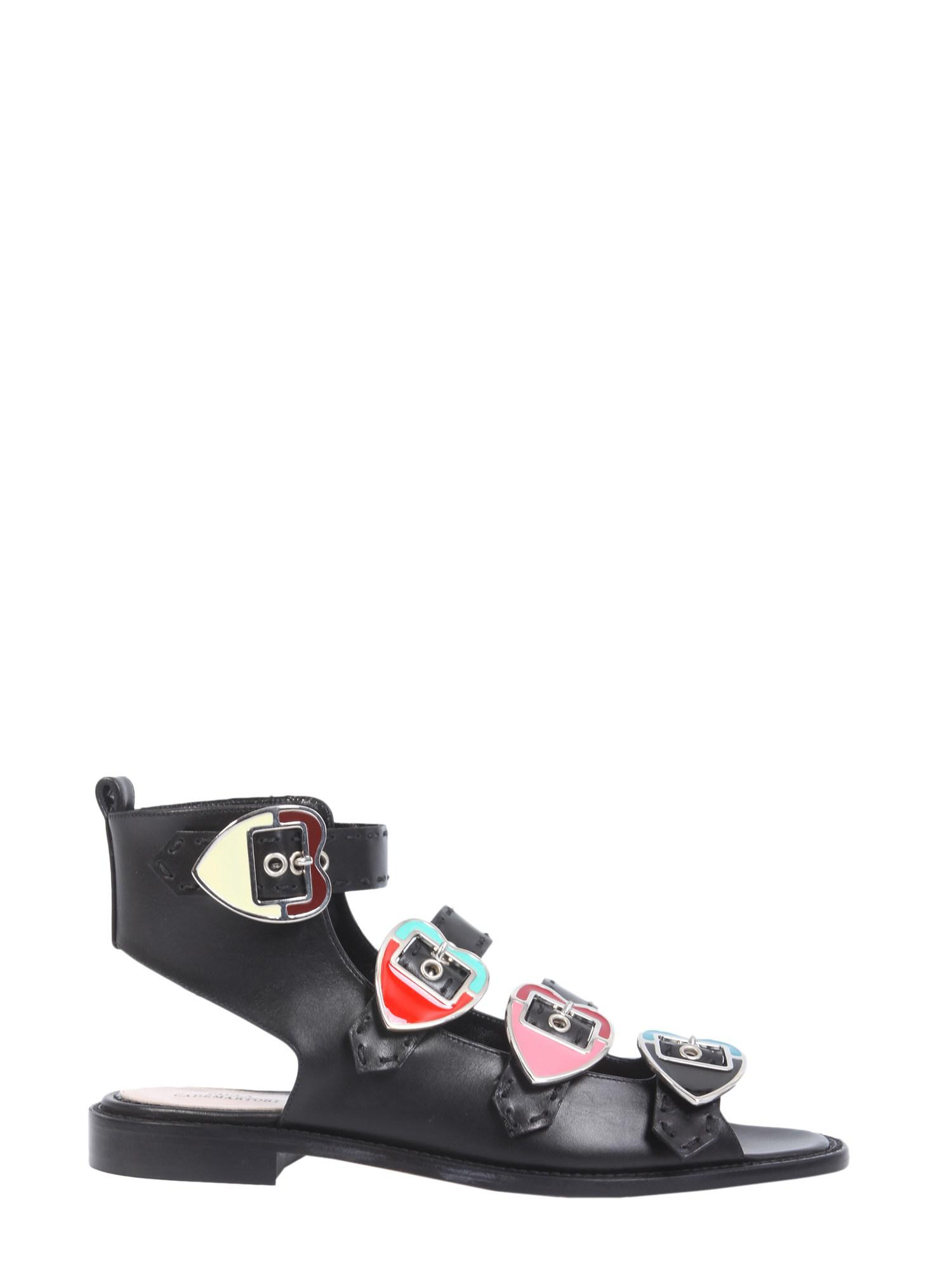 Black sandals with pearly inserts Paula Cademartori Get Online Cheap Sale Discounts CeRrM64