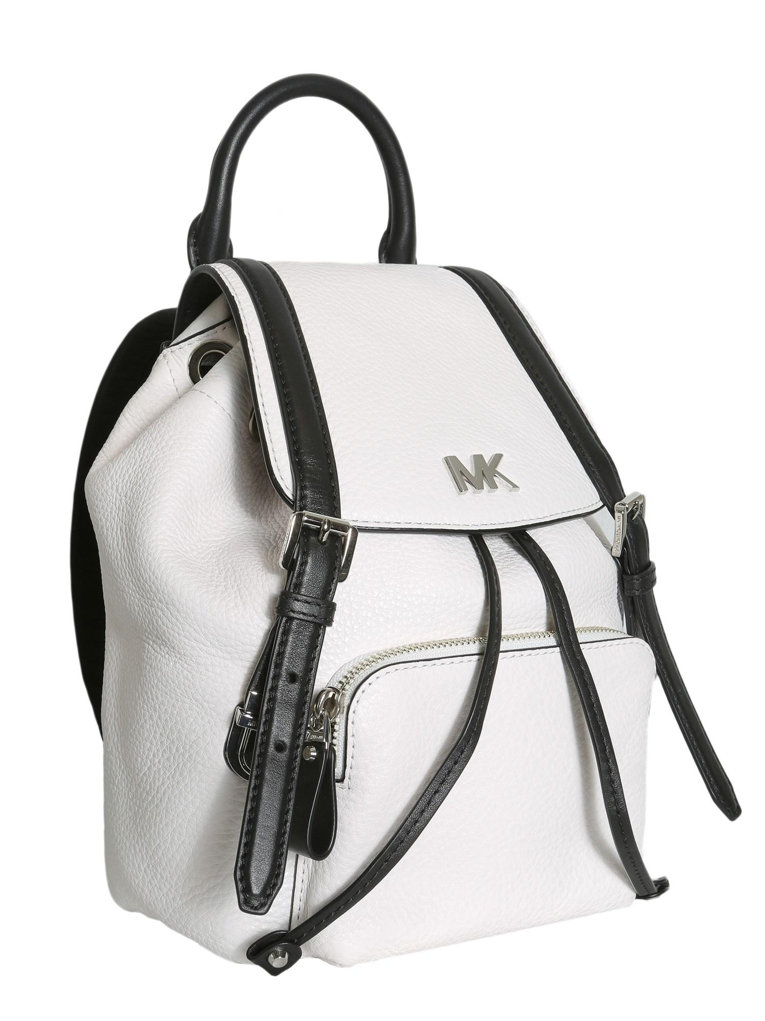 065a56a3ad Lyst - MICHAEL Michael Kors Beacon Small Leather Backpack in White