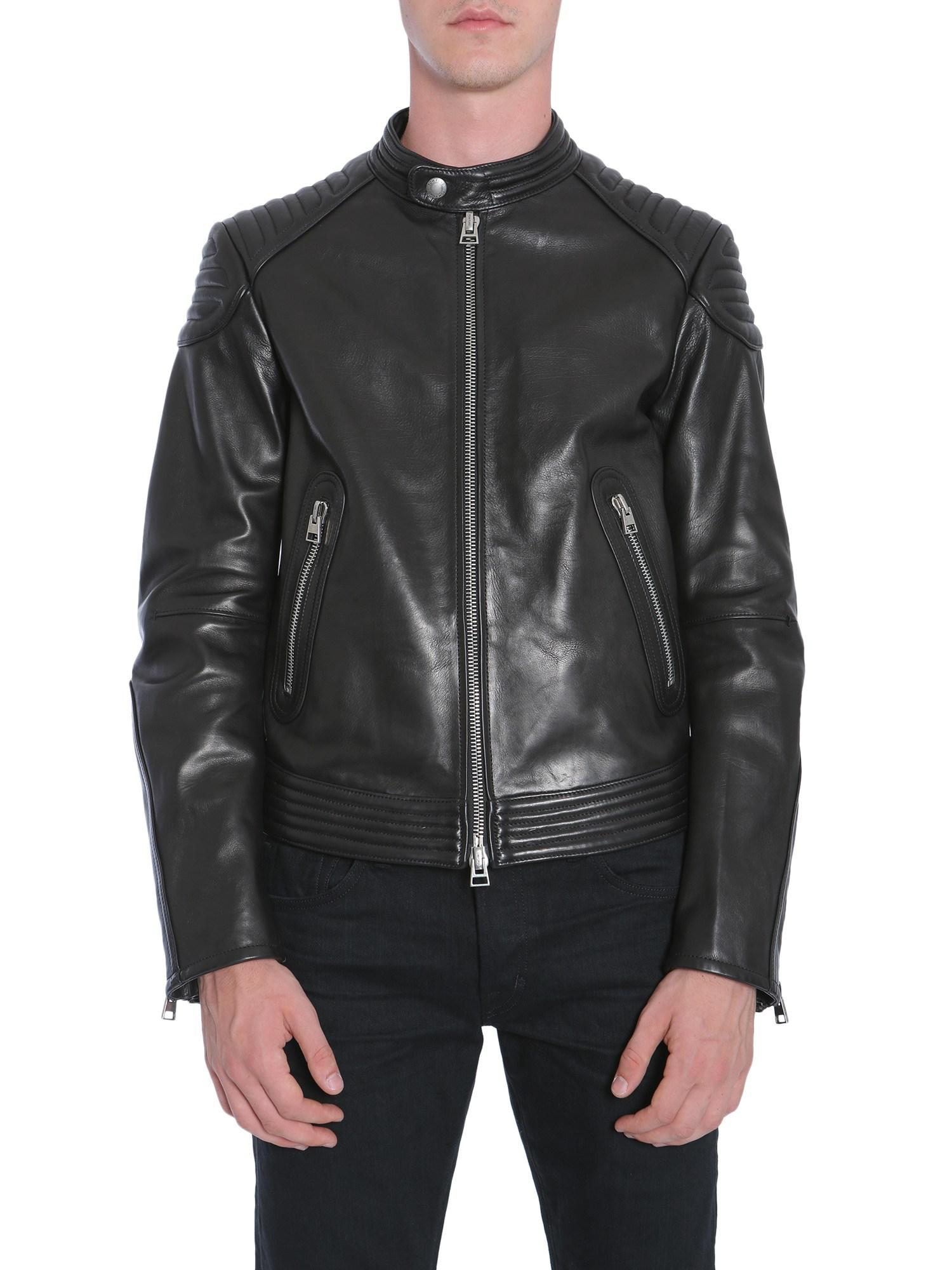 lyst tom ford leather biker jacket in black for men. Black Bedroom Furniture Sets. Home Design Ideas