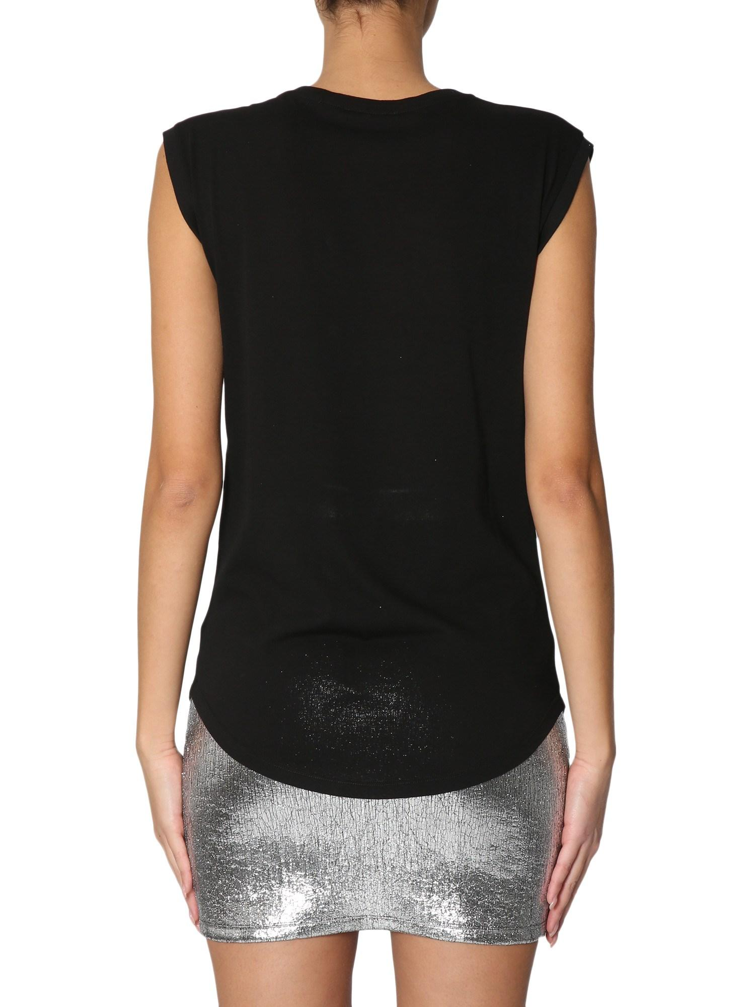 85ee1f35 Balmain Cotton Top With Constellation Print in Black - Save 54% - Lyst