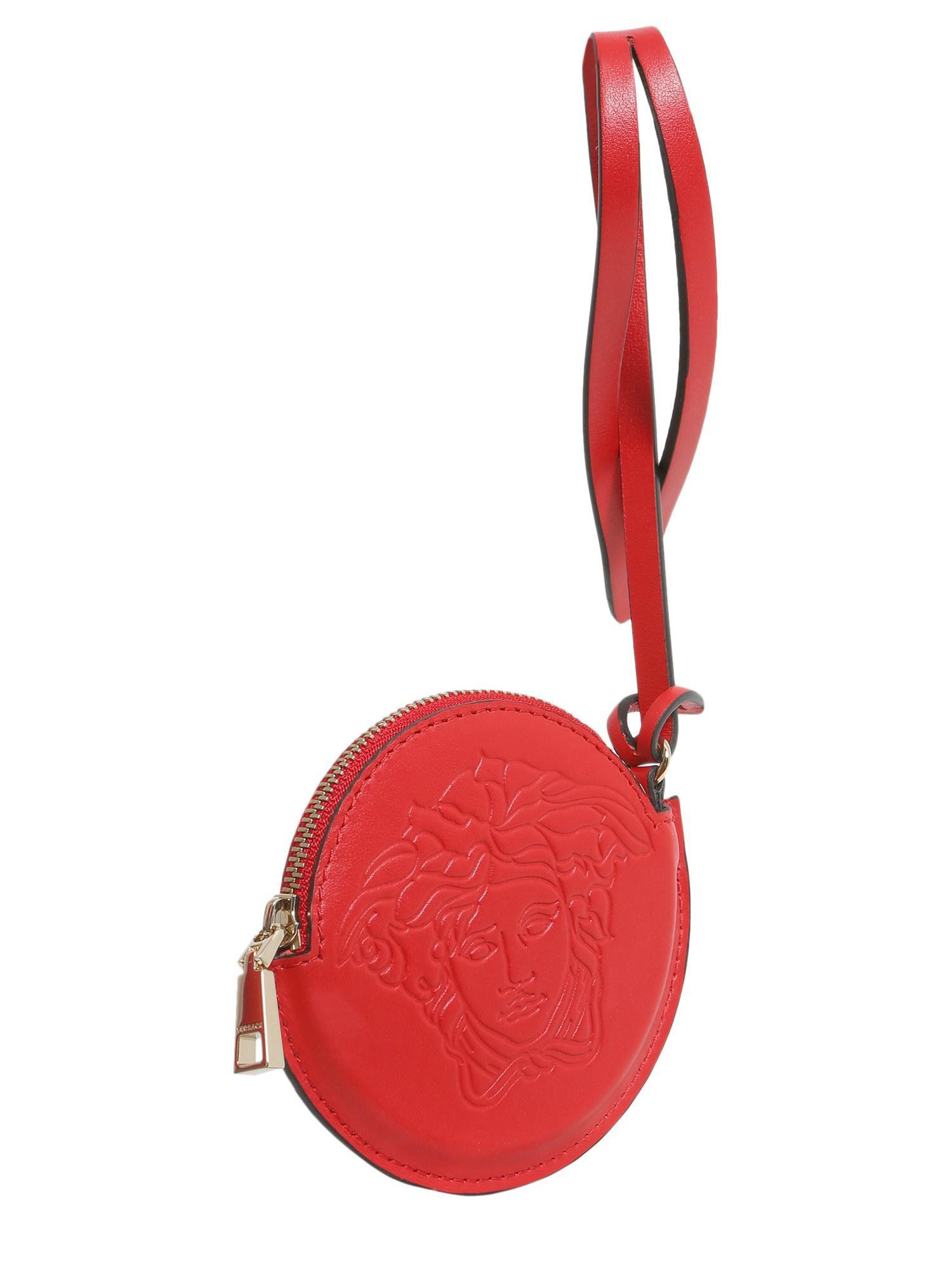 955249246cae Versace - Red Leather Medusa Head Charm - Lyst. View fullscreen