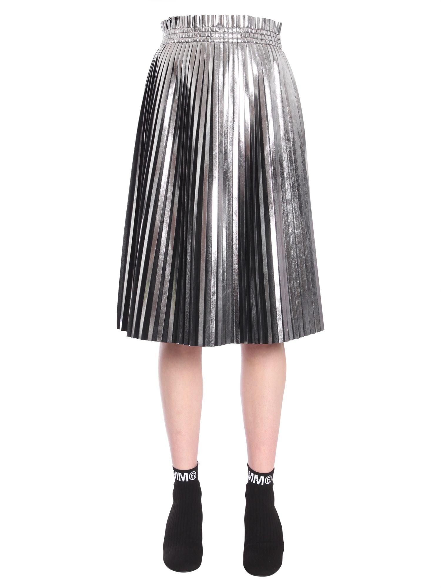 Margiela By Leather Midi Lyst Mm6 Dress Martin Eco Pleated Maison UMpGSVLqz