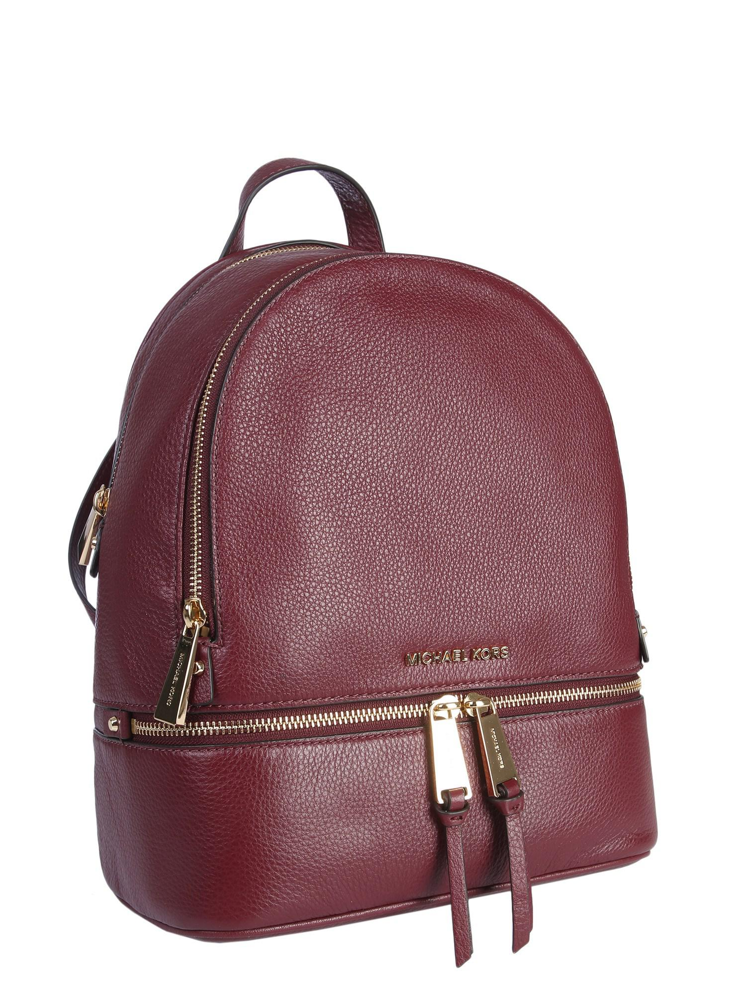 b73fde0ca3d39 MICHAEL Michael Kors - Purple Medium Rhea Bottled Leather Zip Backpack -  Lyst. View fullscreen