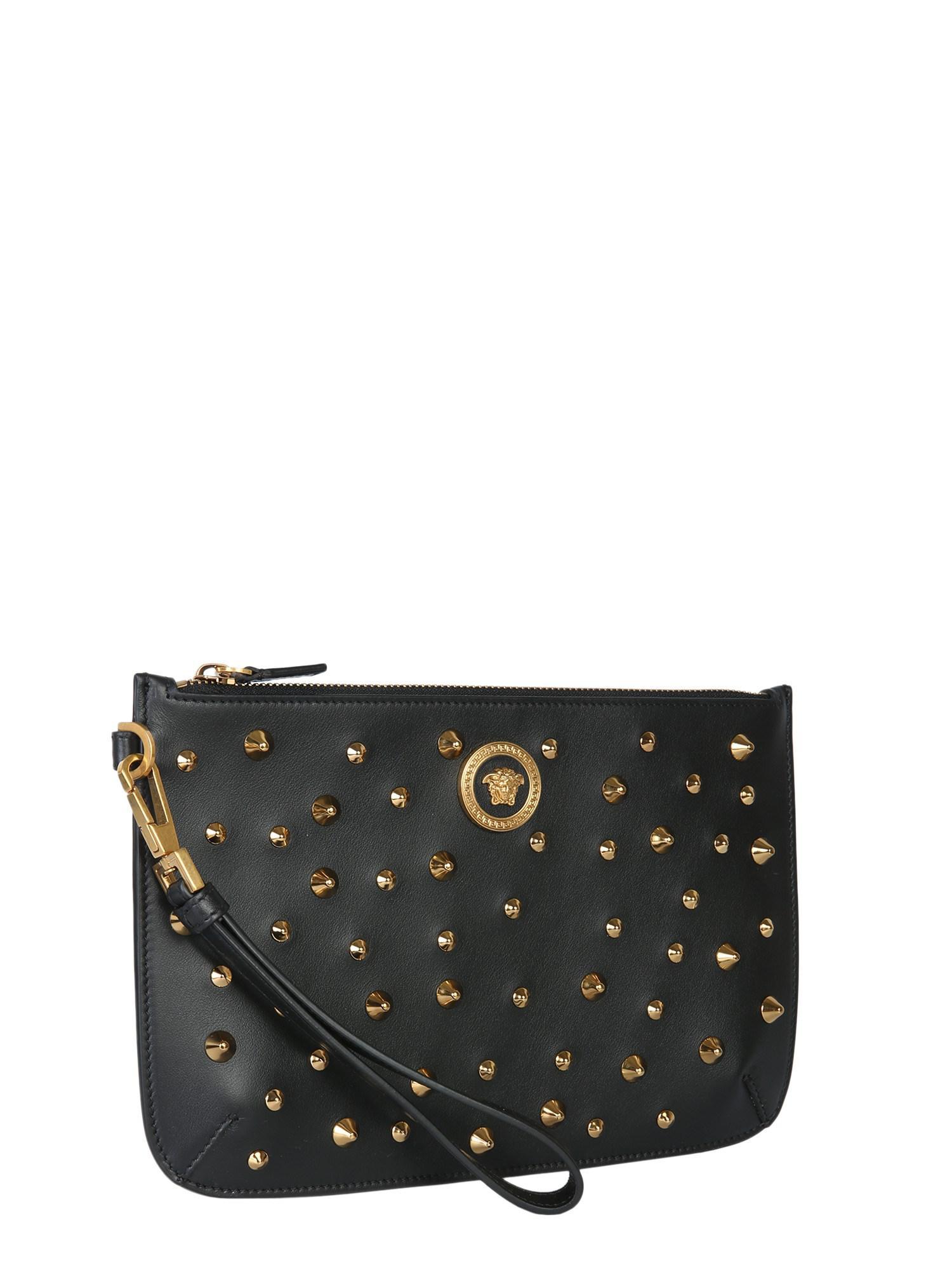 94a72c1b35 Versace Small Medusa Clutch Bag in Black - Save 16.139240506329116 ...
