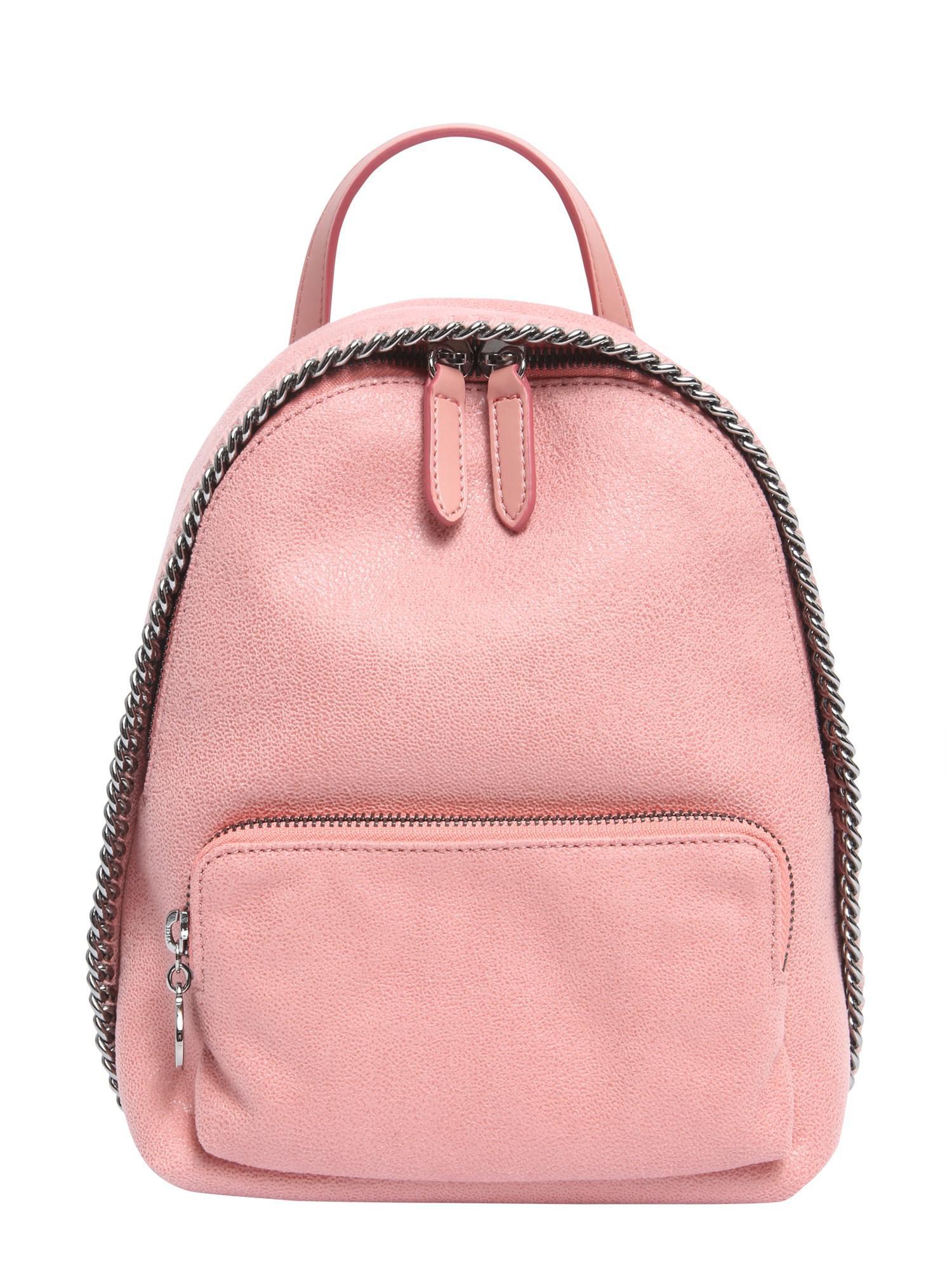 737e2a5aa34b Stella Mccartney Falabella Shaggy Deer Mini Backpack in Pink - Lyst