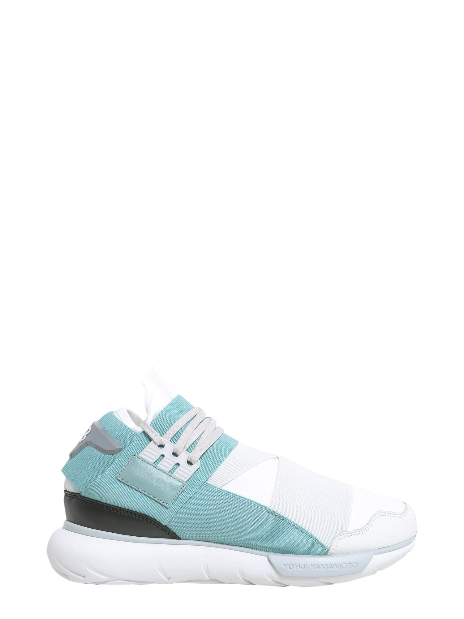 4029f71209c0c Y-3 Qasa High Woven Sneakers in White - Lyst
