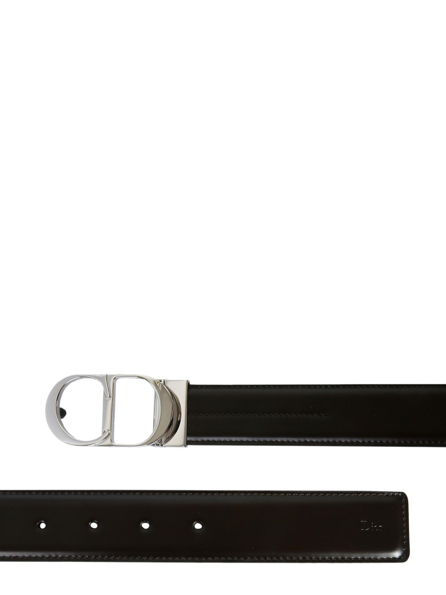 da8bc10f09d46 Dior Homme Belt With Iconic Metal Buckle in Brown for Men - Lyst