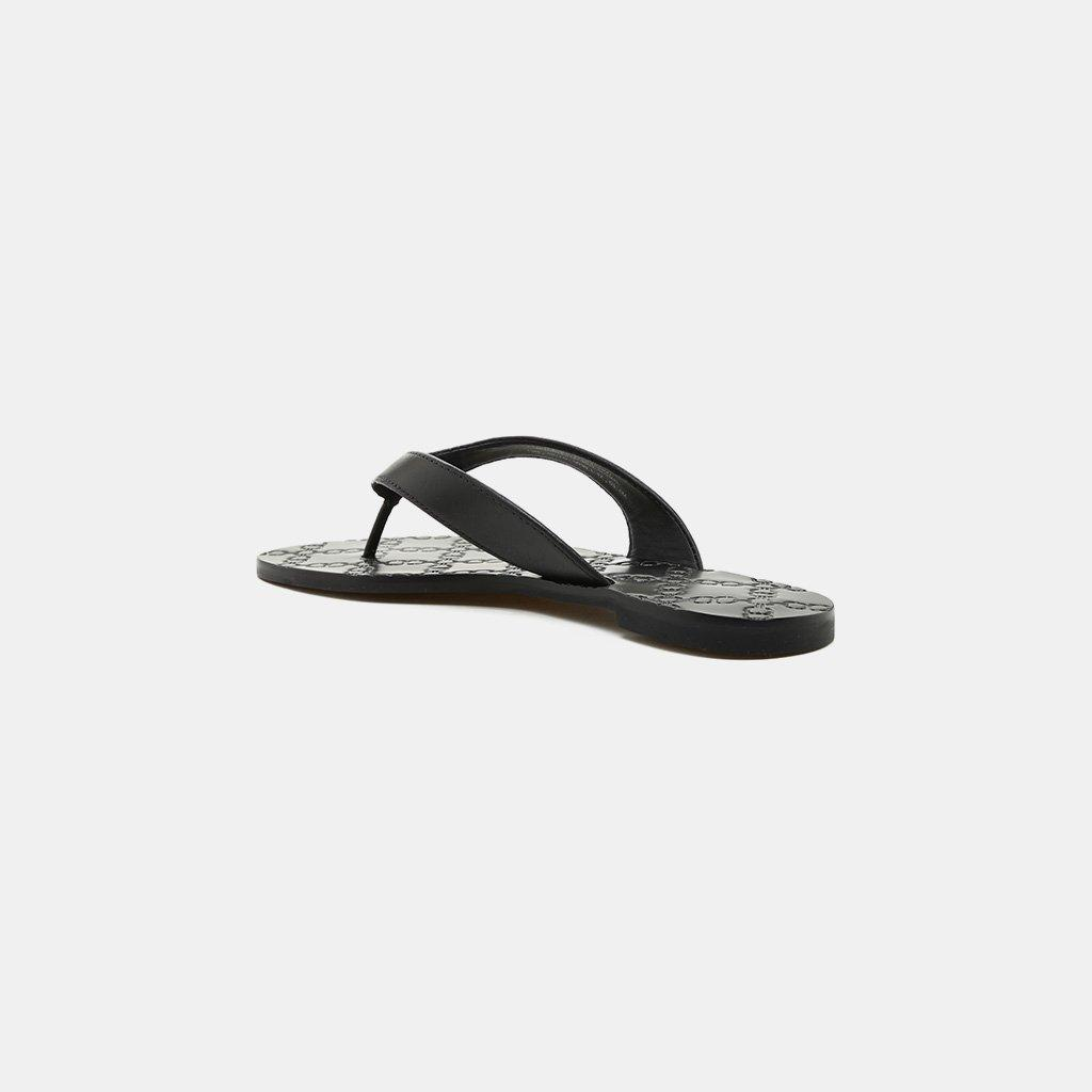 8c32a133d6a6 Tory Burch - Black Monroe Double-t Logo Thong Sandal - Lyst. View fullscreen