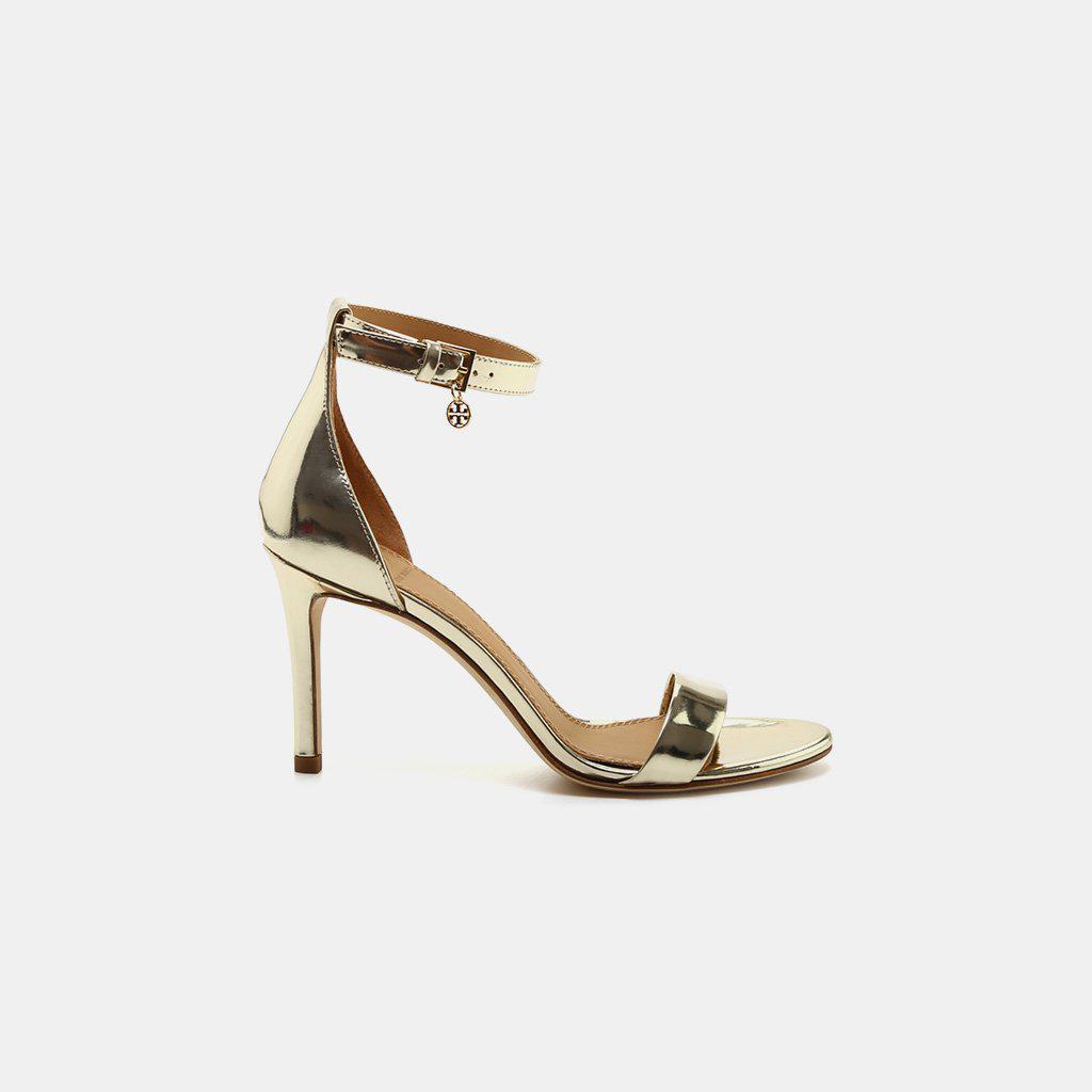 6c2735b6c Lyst - Tory Burch Ellie Ankle Strap Sandal in Metallic