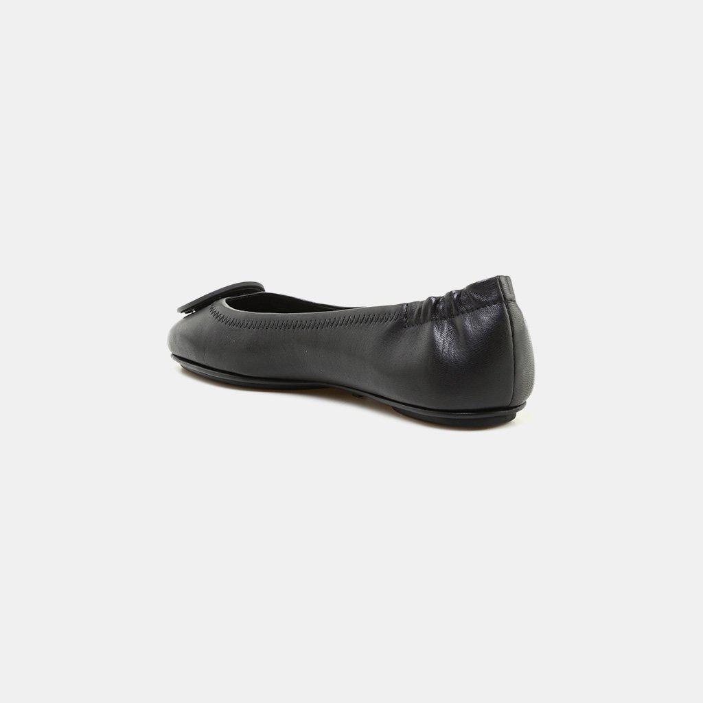 761d5456b0f5 Tory Burch - Black Women s Minnie Leather Travel Ballet Flats - Lyst. View  fullscreen