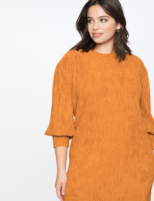 1b03729ea6c239 Lyst - Eloquii Dropped Shoulder Easy Dress in Orange