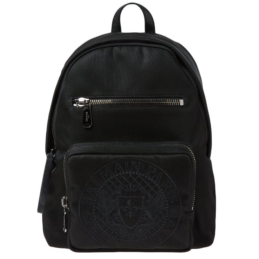 Perfect Balmain Climb Leather-trimmed Nylon Backpack Free Shipping New Arrival Under Sale Online a2QyqxpuVC