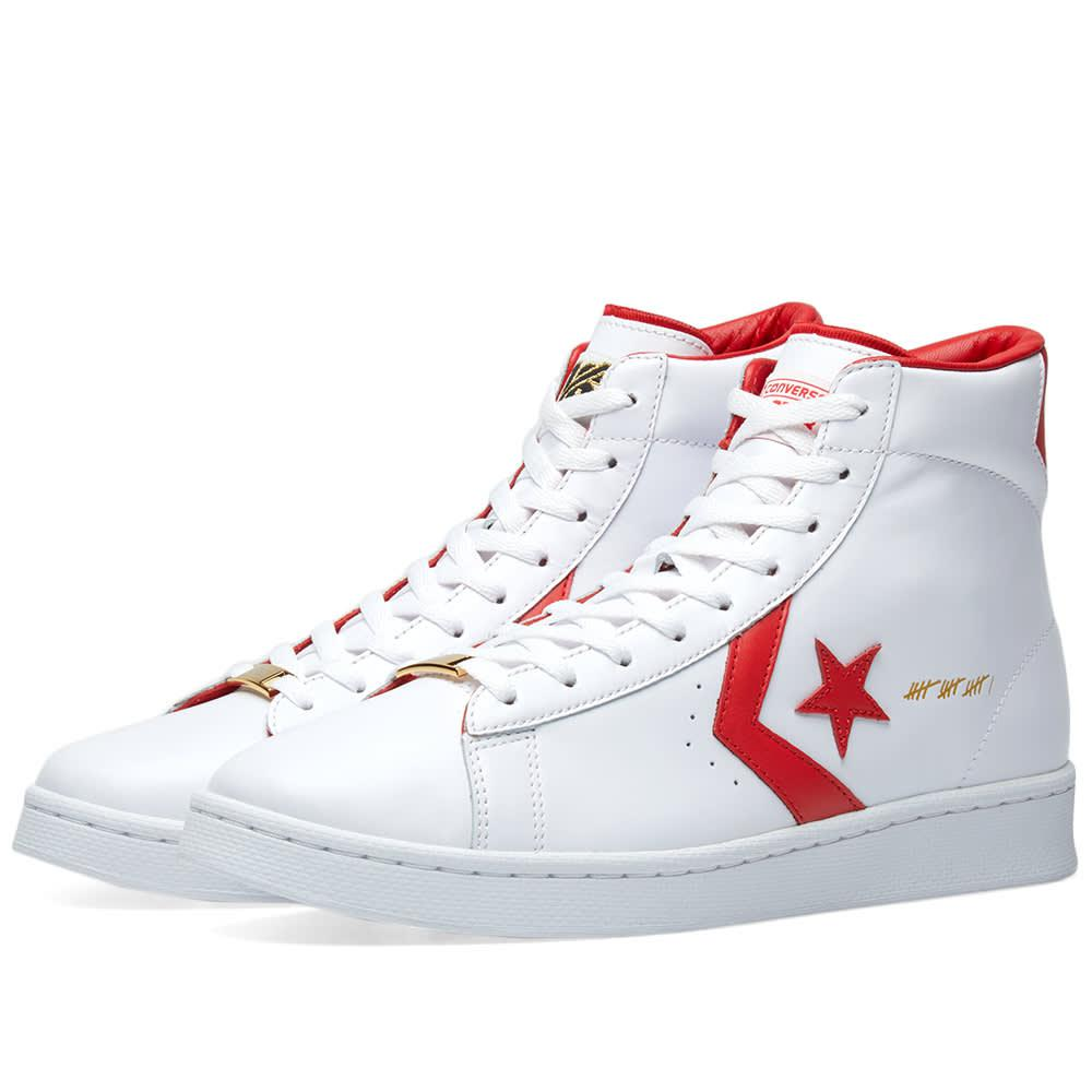 b14785fcf2 Converse Pro Leather Hi  the Scoop  in White - Lyst