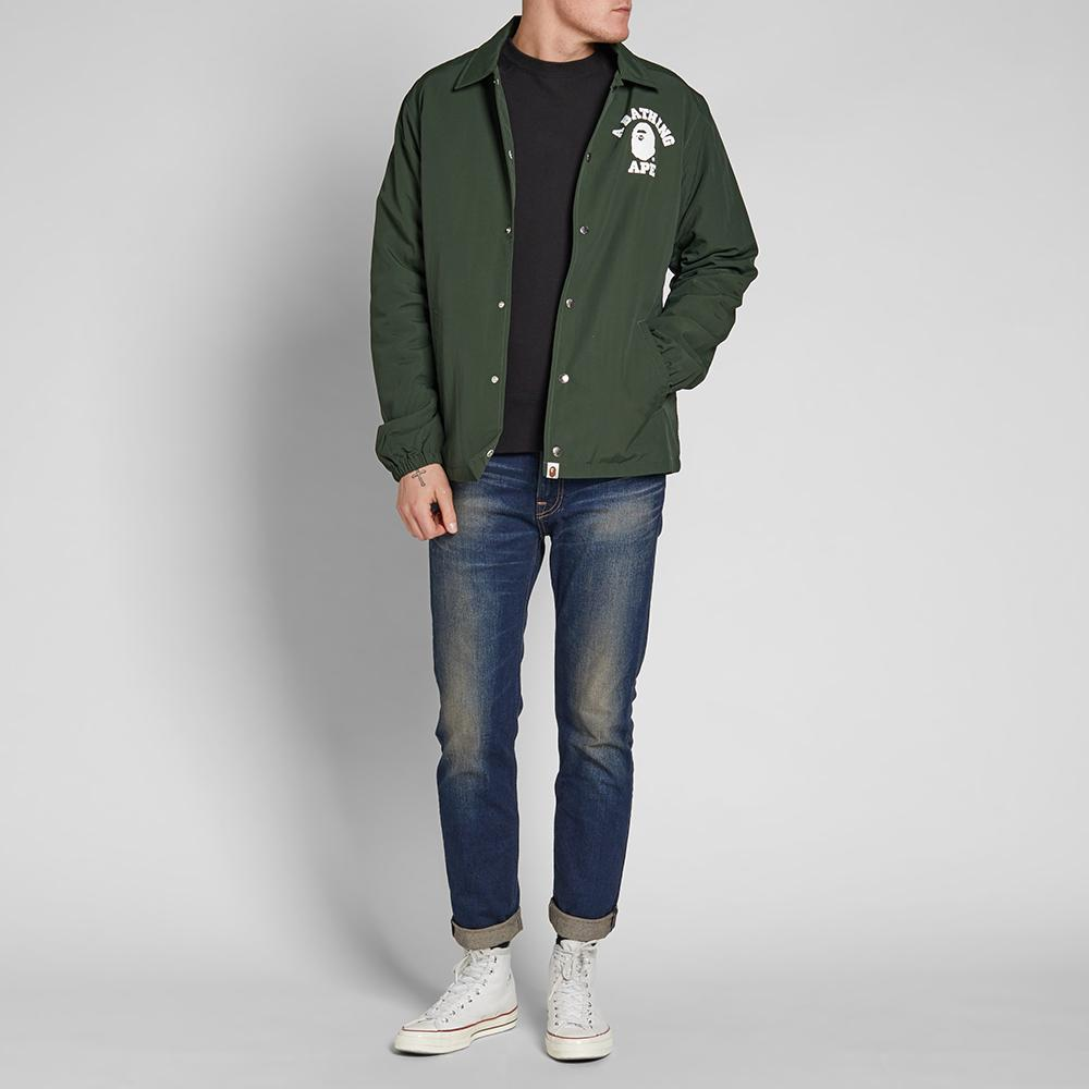 a59079bf047f Lyst - A Bathing Ape College Coach Jacket in Green for Men