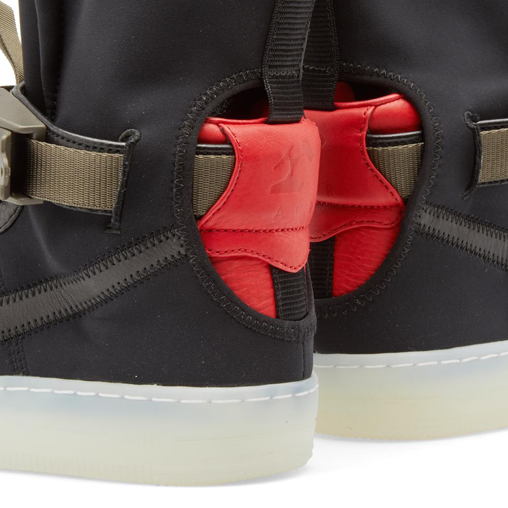 Nike Neoprene X Acronym Air Force 1 Downtown Hi Sp in Black