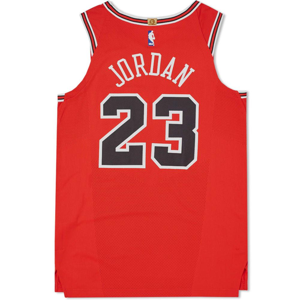 Nike - Red Michael Jordan Icon Edition Authentic Jersey for Men - Lyst.  View fullscreen 3720d4c04