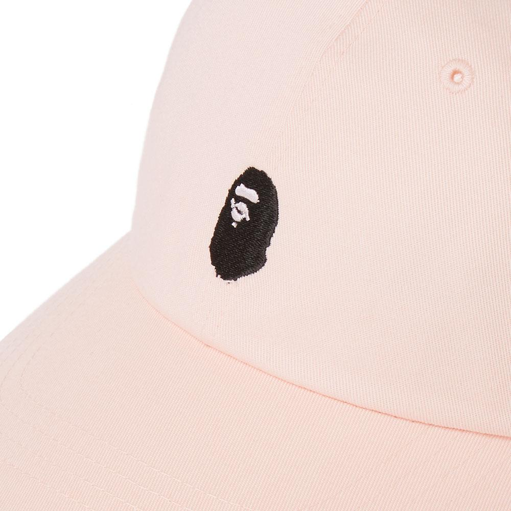 fc61507d A Bathing Ape Ape Head Embroidery Panel Cap in Pink - Lyst
