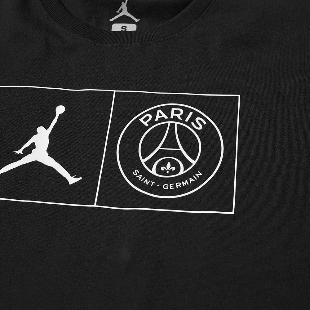 6248146f4e4644 Nike Jordan X Paris Saint-germain Jock Tag Tee in Black for Men - Lyst