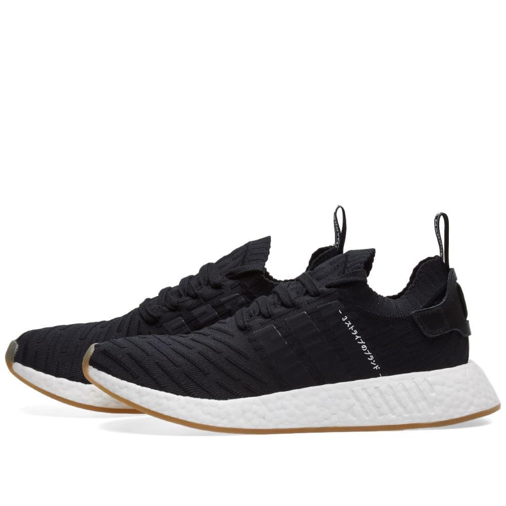 Adidas Nmd R Primeknit Black Gum Shoes