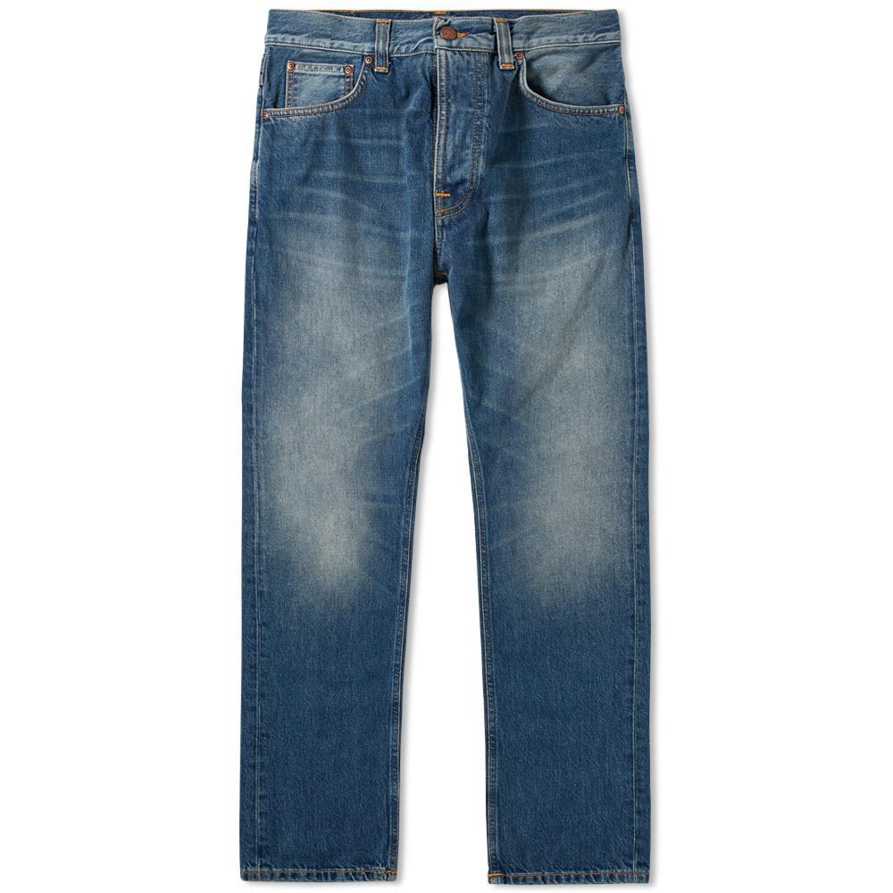 nudie jeans nudie fearless freddie jean in blue for men lyst. Black Bedroom Furniture Sets. Home Design Ideas