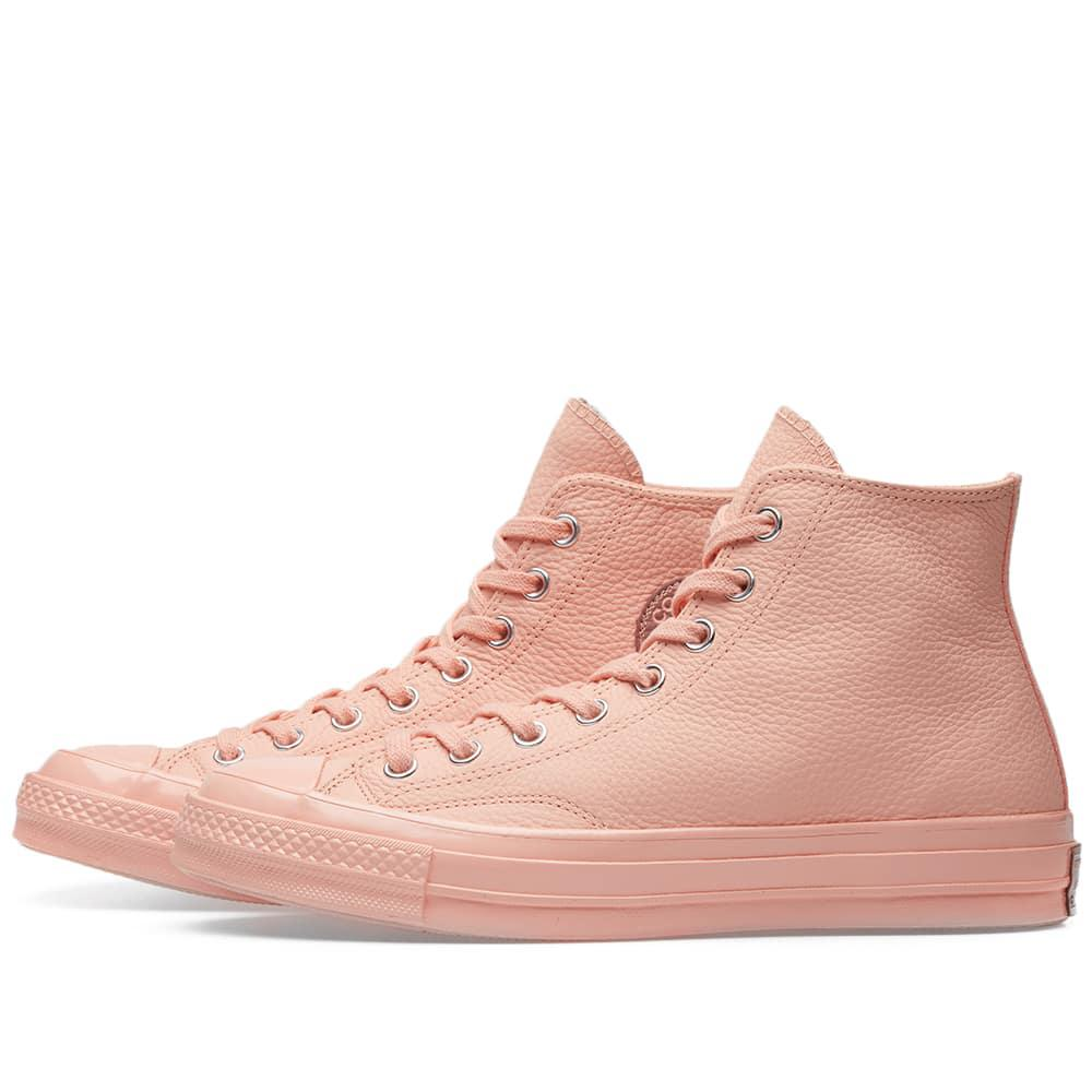 1720462df1b1 Lyst - Converse Chuck Taylor 1970s Hi Leather in Pink