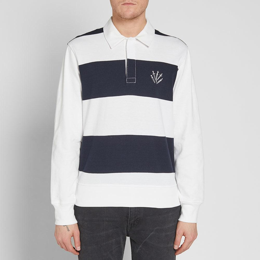 b5d2a93ea512ef Rag & Bone Long Sleeve Rigby Rugby Shirt in Blue for Men - Lyst