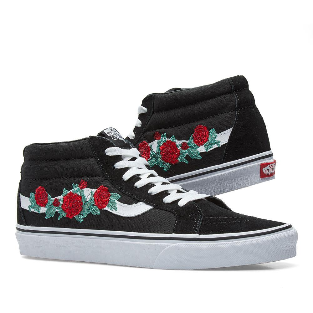 f5ebb466c4c8a5 Vans Sk8-mid Reissue Rose Thorns in Black for Men - Lyst