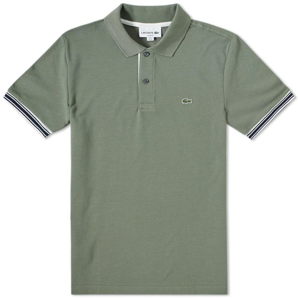 f0fb5248 Lacoste - Green Tipped Sleeve Polo for Men - Lyst. View fullscreen