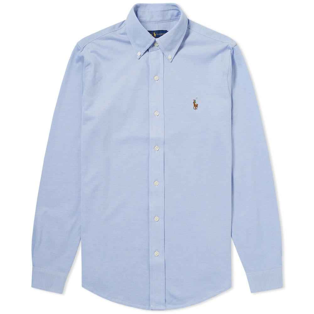 Style De Mode De Prix Pas Cher Slim-fit Button-down Collar Striped Cotton-seersucker Shirt - BluePolo Ralph Lauren Sites De Réduction YoaN6NT