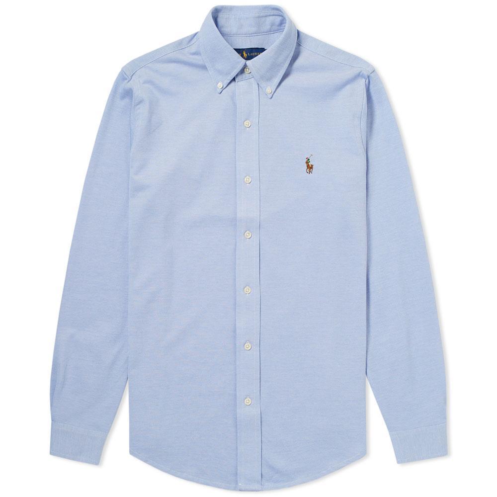 Slim-fit Button-down Collar Striped Cotton-seersucker Shirt - BluePolo Ralph Lauren Style De Mode De Prix Pas Cher Meilleure Vente Jeu RxUTq7hA