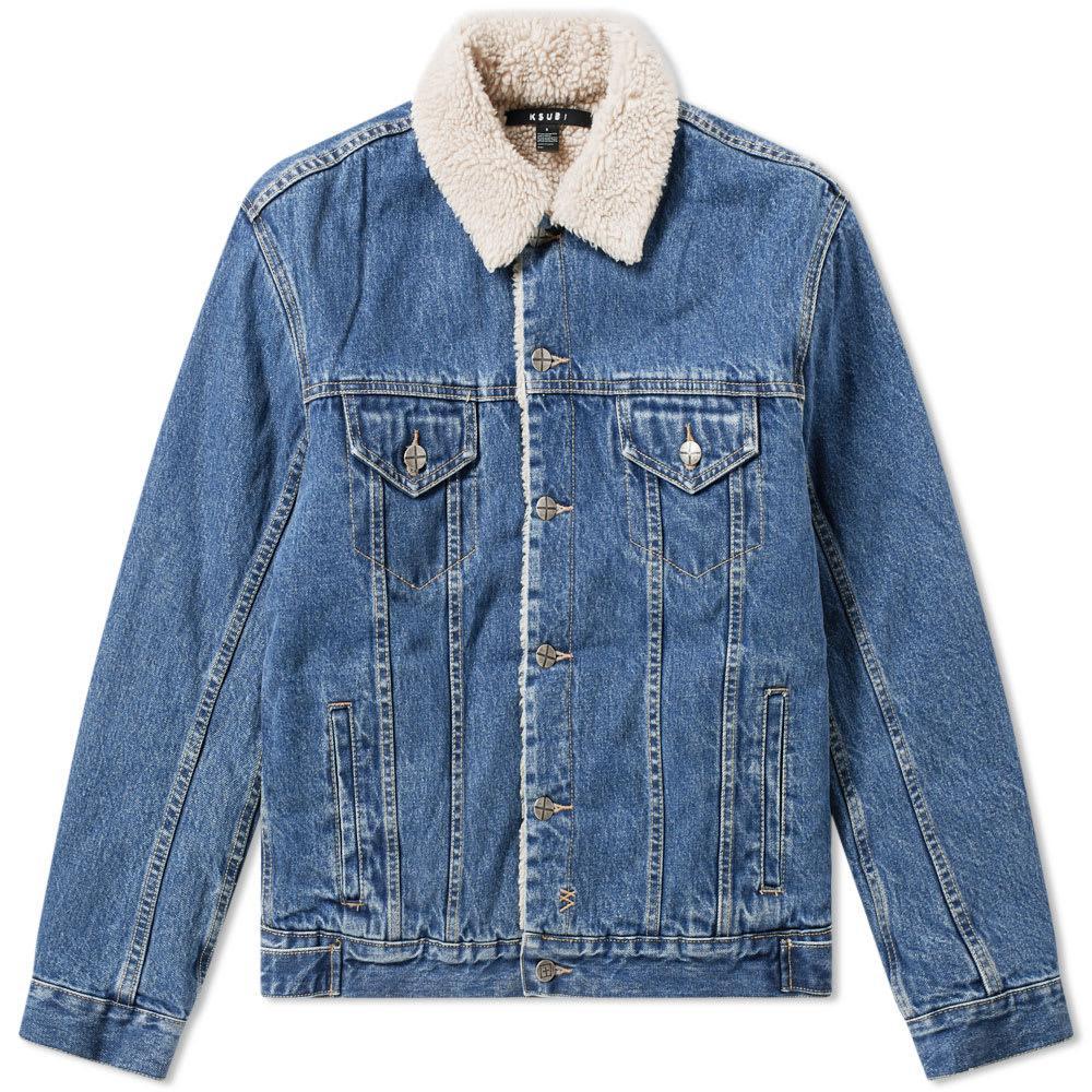 f254282d07 Lyst - Ksubi Oh G Borg Lines Denim Jacket in Blue for Men