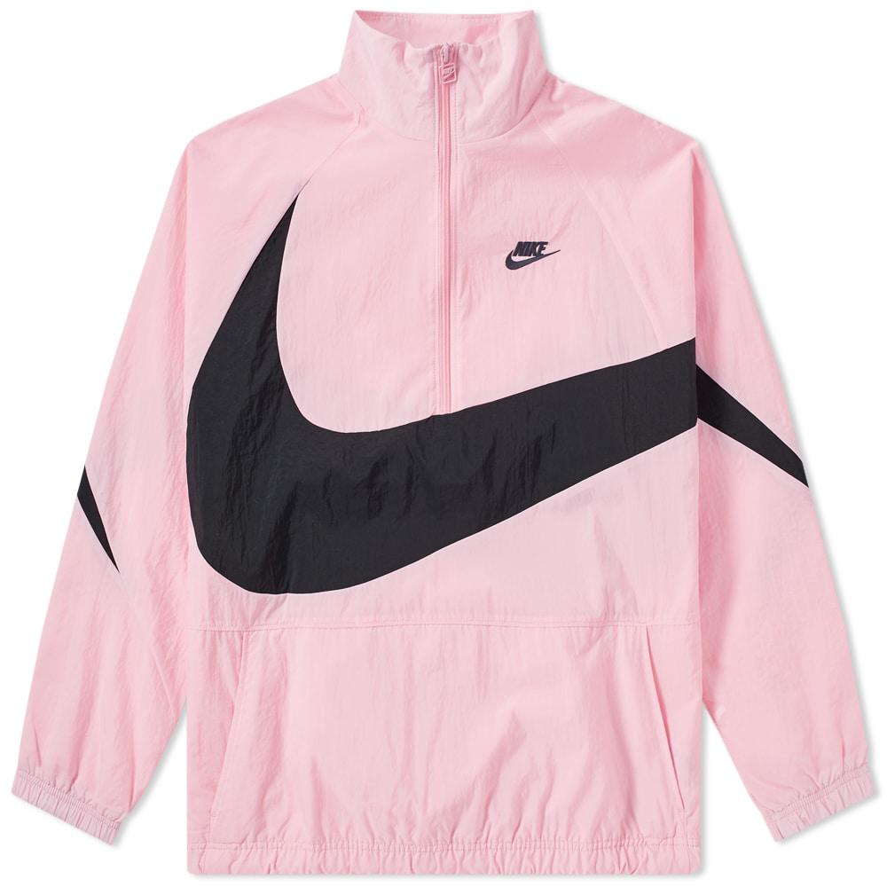 86f4acb9b2eb Lyst - Nike Swoosh Half Zip Woven Jacket in Pink for Men