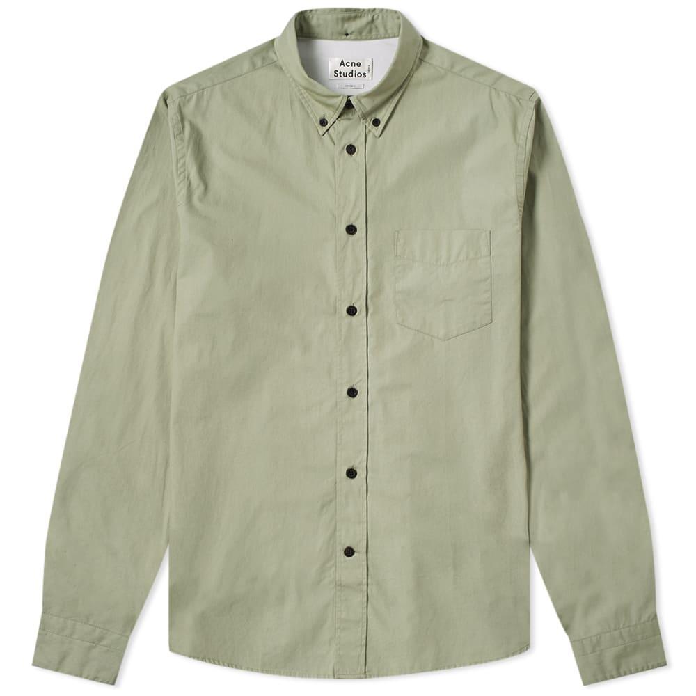 a676b823f2 Acne - Green Isherwood Soft Poplin Shirt for Men - Lyst. View fullscreen