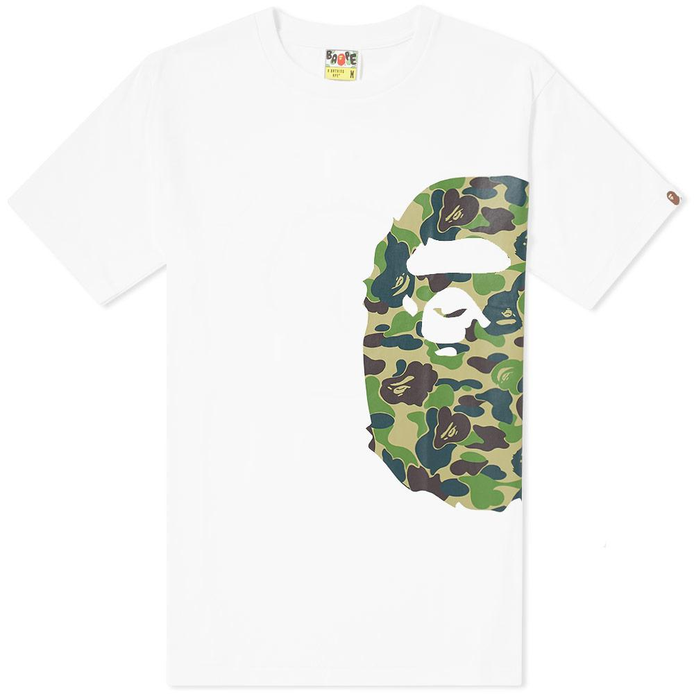 033f9d9d A Bathing Ape Abc Camo Side Big Ape Head Tee in White for Men - Lyst