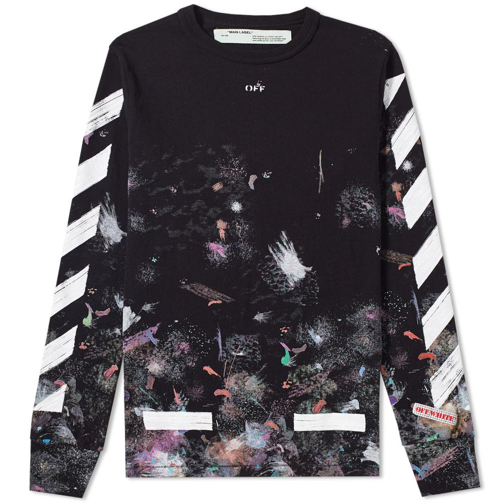 f9bed0dbe72017 Lyst - Off-White c o Virgil Abloh Diagonal Galaxy Long Sleeve Tee in ...