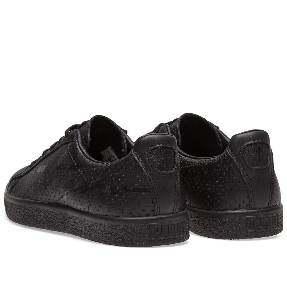 c8cf69006b9352 PUMA X Trapstar Clyde Perforated in Black for Men - Lyst