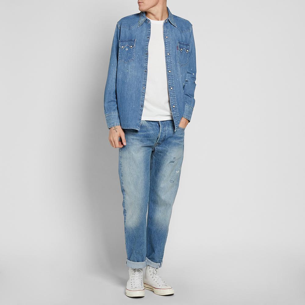b6998770e6 Levi s Levi s Vintage Clothing 1955 Sawtooth Denim Shirt in Blue for ...