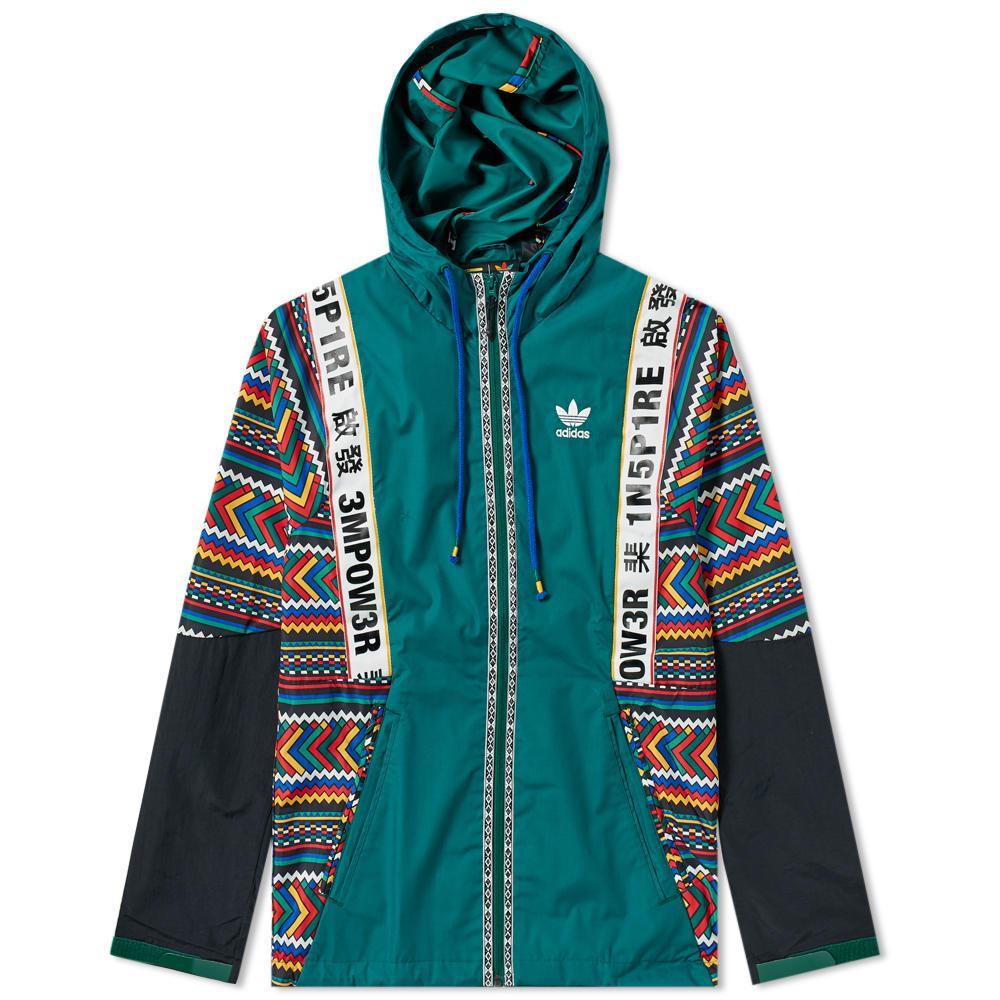 acca5b64f8129 Lyst - adidas By Pharrell Williams Solarhu Shell Jacket in Green for Men