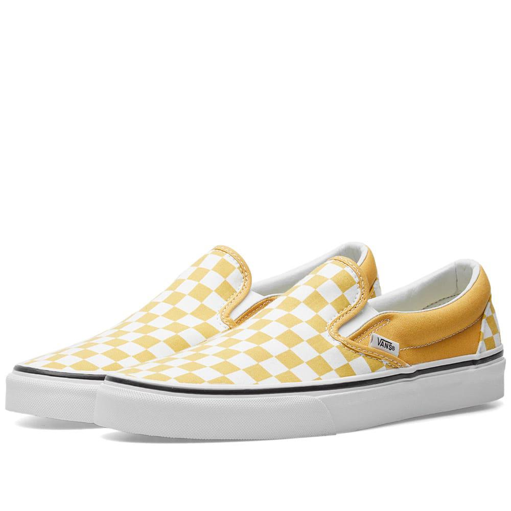 a512e9627d3 Lyst vans classic slip on checkerboard in yellow for men save jpg 1000x1000 Vans  slip yellow