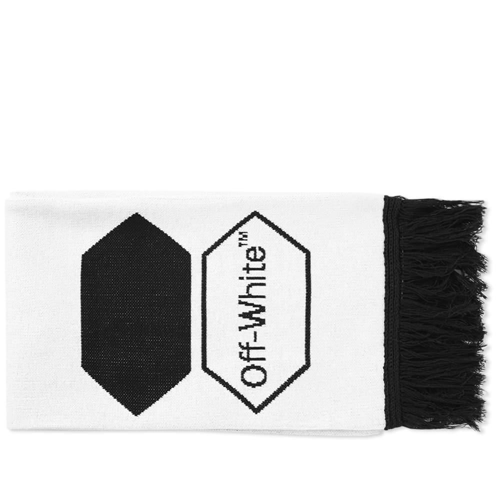 lyst off white c o virgil abloh exagon scarf in white for men. Black Bedroom Furniture Sets. Home Design Ideas